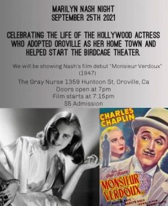 Marilyn Nash Movie Night at Sept 25th 244x300